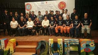 Expertos japoneses capacitaron a bomberos voluntarios chaqueños