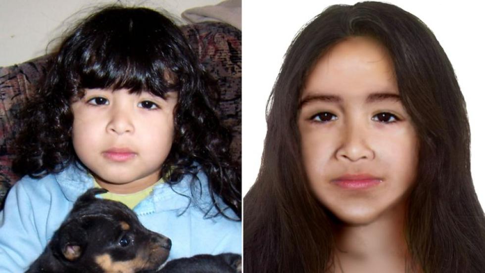 El juez de la causa ordenó hacer un nuevo identikit de Sofía Herrera sobre cómo se vería actualmente.jpg