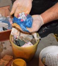 Cocaína, marihuana y más de 87 mil pesos dejaron allanamientos antinarcóticos