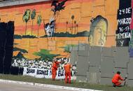 Mirá el antes y el después del polémico mural