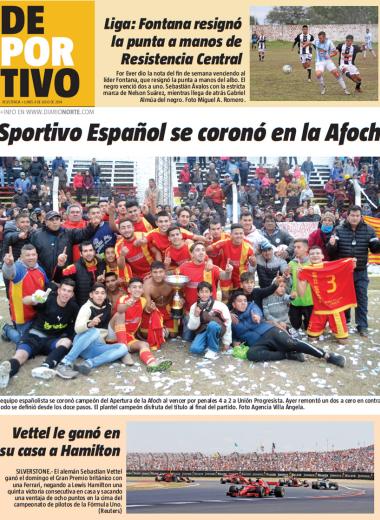 Sportivo Español se coronó en la Afoch