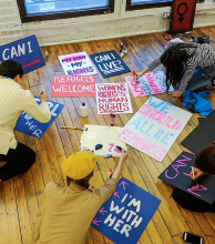 Artistas rumbo a Washington para la Marcha de las Mujeres