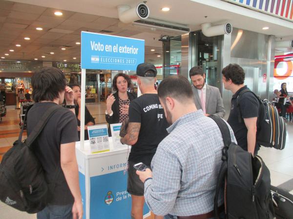 Elecciones Legislativas 2017 Stand Informativo En Ezeiza Para Argentinos En El Exterior