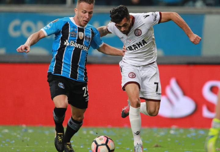 Lanús no pudo con Gremio en Porto Alegre en la final de ida de la Libertadores