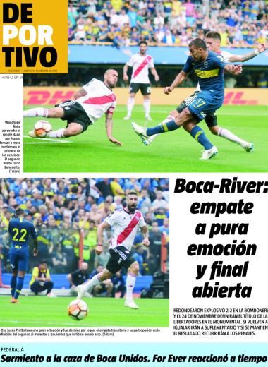 Boca-River: empate a pura emoción y final abierto