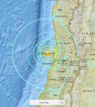 Fuerte sismo de 7,1 de magnitud sacude el centro de  Chile