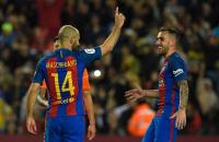 Mascherano marcó su primer gol con el Barcelona