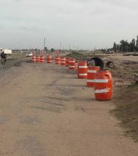 Precaución al circular por zonas  de obras en la autovía de la ruta 11