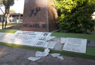 Vándalos rompen monumento a Héroes de Malvinas