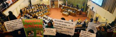 El Congreso volvió a postergar al aborto terapéutico en Chile