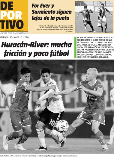 Huracán-River: mucha fricción y poco fútbol