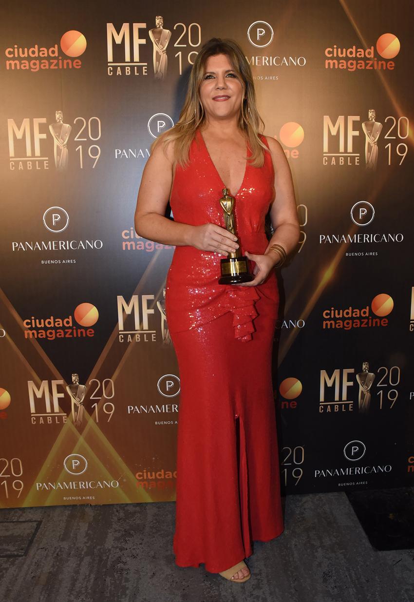 Dominique Metzger fue reconocida por la mejor labor periodística femenina.jpg