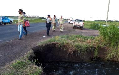 Ruta 89: tránsito reducido por otro socavamiento entre Charata y Pinedo