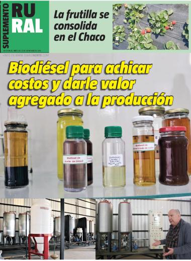 Biodiésel para achicar costos y darle valor agregado a la producción