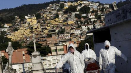 Brasil batió un nuevo récord: 1188 muertos en las últimas 24 horas