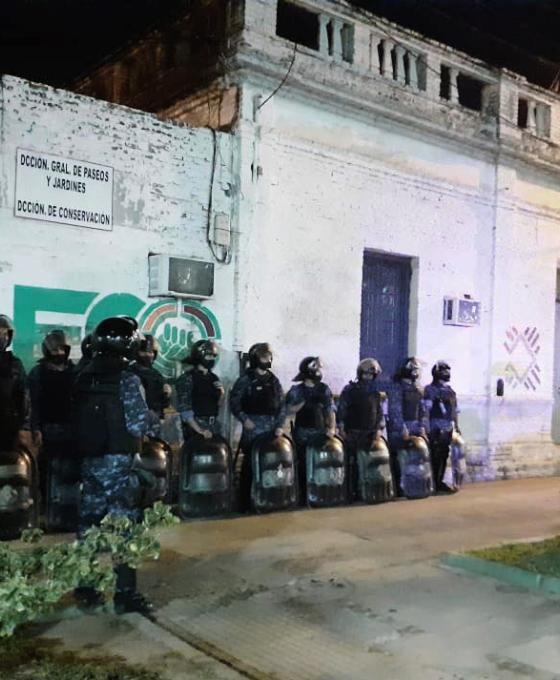 Incidente en la Dirección Municipal de Limpieza terminó con la policía y a los tiros