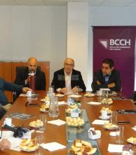 Desayuno de trabajo en la Bolsa de Comercio:  autoridades destacaron consolidación institucional