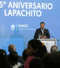 Lapachito celebró 105 años con el anuncio de obras