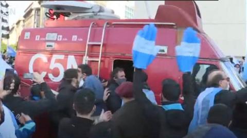 Violento ataque a un móvil del canal de noticias C5N