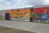"""Para Obeid la """"pintada"""" sobre el mural fue """"violencia contra la violencia"""""""