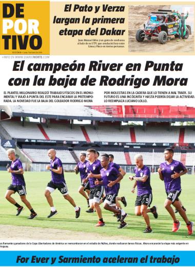 El campeón River en Punta con la baja de Rodrigo Mora