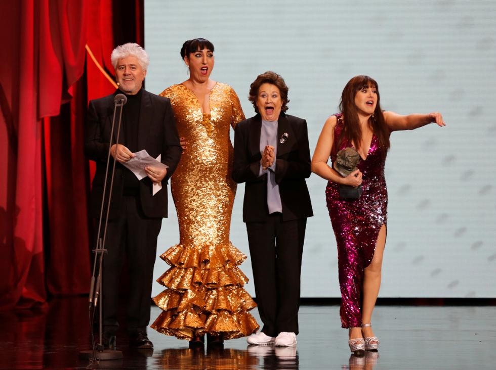 goya Director Pedro Almodovar and actors Rossy de Palma,.jpg