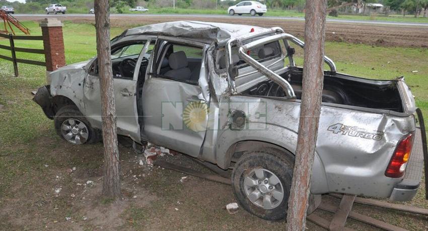Curva, velocidad y asfalto desparejo, causas que casi provocan una tragedia sobre ruta 11