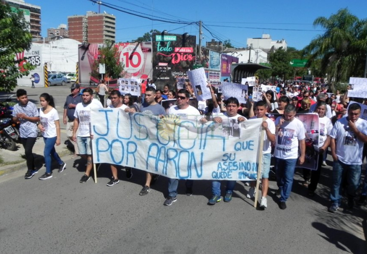 Marcha y pedido de justicia por Aarón Merino