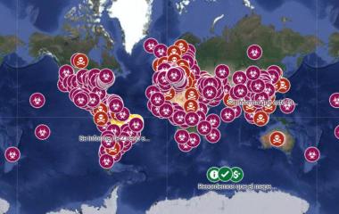 Seguí la expansión del Coronavirus por el mundo en tiempo real