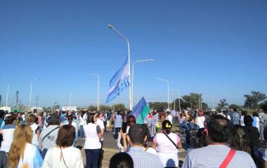 Manifestación de docentes en todo el interior del Chaco